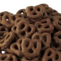 Crisp, crunchy and slightly salty pretzels covered with rich, smooth, dark chocolate. The perfect sweet and savory flavor combination. You and your customers will have a hard time eating just a few!