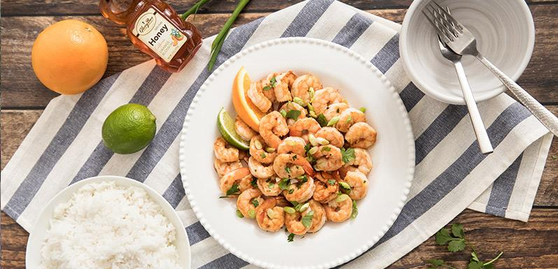 Honey Garlic Citrus Shrimp