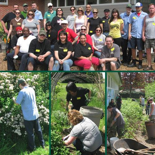 GloryBee Celebrates Earth Week by Cleaning Garden at River Road Elementary